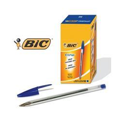 Penna a sfera Cristal® Bic - Medium - blu - tratto 1 mm - conf. 50
