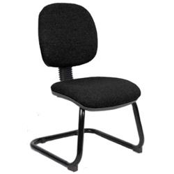 Luna Cantilever Chair Black Fabric Without Arms Ref BR00076