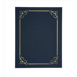Certificate Covers Linen Finish Heavyweight Card Stock 240g Blue (Pack 5)