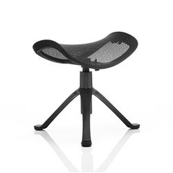 Ergo-Dynamic Footstool Black Frame Black Mesh Ref PO000023