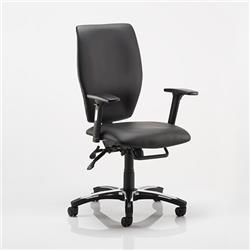 Sierra Executive Chair Black Bonded Leather With Arms Ref OP000178