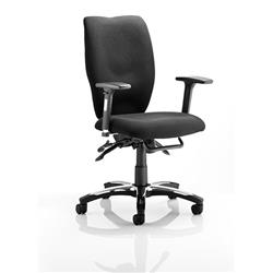 Sierra Executive Chair Black Fabric With Arms Ref OP000176