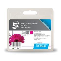 HP No 933XL CN055AE 5 Star Alternative Magenta Inkjet Cartridge 934436