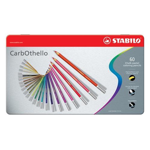 Foto Matite colorate CarbOthello Stabilo - Scatola in metallo - conf. 60