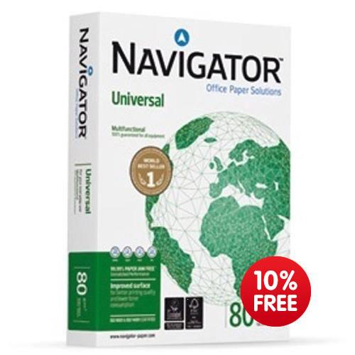 10% Extra Free on Navigator paper 80gsm - 550 sheets per ream