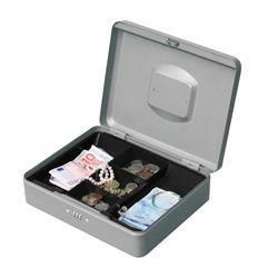 5 Star Facilities Premium Cash Box with Coin Tray Metal Combination Lock W300xD240xH90mm Anthracite