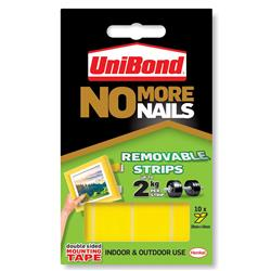 Unibond No More Nails Removable Translucent Strips Ref 781739 - Pack 10