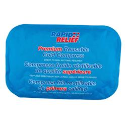 Rapid Relief Premium Reusable Cold Compress 8in x 12in Blue RA11270