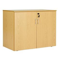 Workmode Double Door 720mm Desk End Cupboard - Oak Ref  - ZSU710DDOAK
