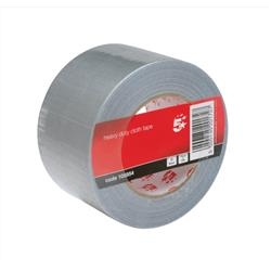 5 Star Office Cloth Tape Roll 75mmx50m Silver