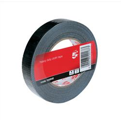 5 Star Office Cloth Tape Roll 25mmx50m Black