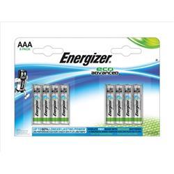 Energizer Eco Advance Batteries AAA / E92 Ref E300116300 (Pack 8)