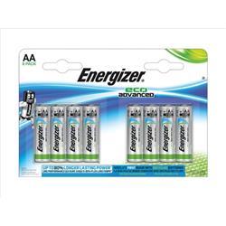 Energizer Eco Advance Batteries AA / E91 Ref E300116500 (Pack 8)