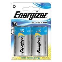Energizer Eco Advanced Batteries D / E95 Ref E300129700 (Pack 2)