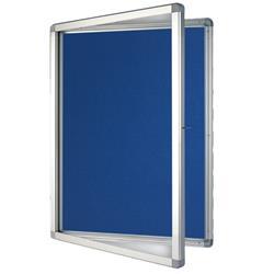 Franken Display Case ECO Outdoor 9 x  A4 75 x 101.1 x 4.5cm Felt Blue Ref SK9PTE03