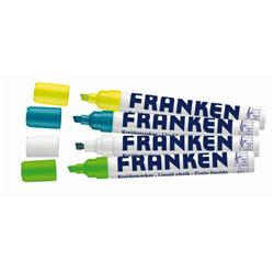 Franken Chalk Marker NEON, Line Width 2-5mm 4 Pieces Various Colours Ref ZKM L99