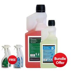 5 Star Facilities Concentrated Glass and Steel Cleaner 1L - Bundle Offer & FREE 4x Trigger Spray Bottles