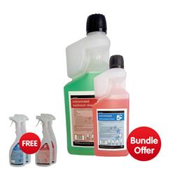 5 Star Dosing Washroom Clean 1 Litre - Bundle Offer & FREE 4x Trigger Spray Bottles