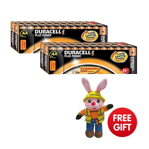 Free Bunny when you buy 2 Duracell Value packs