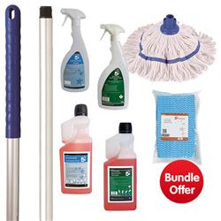 General Cleaning Bundle with Mop/Cloths/Cleaning Fluids - BUNDLE OFFER