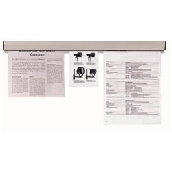 Franken Paper Holder Rail 1180x40mm Plastic Grey Ref PKS118