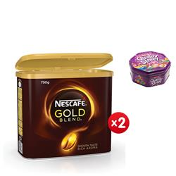 Nescafe Gold Blend Instant Coffee Tin 750g Ref 12284102 - x2 & FREE Quality Street Chocolates