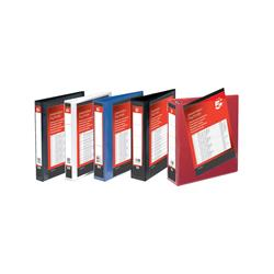 5 Star Office Presentation Ring Binder PP Cover 25mm 2-ring A4 Red [Pack 10]