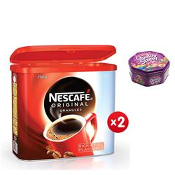 Nescafe Original Instant Coffee Granules Tin 750g Ref 12283921 - x2 & FREE Quality Street Chocolates