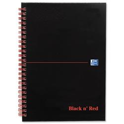 Black n Red Book Wirebound Ruled and Perforated 90gsm 140pp A5 Matt Black Ref 100080154 - [Pack 5] - 2 for 1