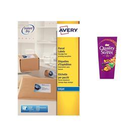 Avery J8165 Inkjet Labels 100 per sheet 99.1x67.7mm Ref J8165-100 -  800 Labels - FREE Quality Street Chocolates 265g