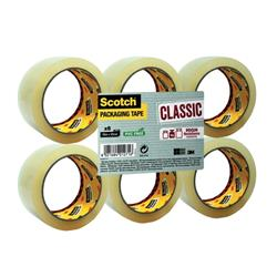 Scotch Classic Packaging Tape W50mmxL66m Clear Ref CL5066F6T [Pack 6] - 2 for 1