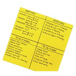 Post-it Super Sticky Dry Erase Sheets Self-adhesive 280x280mm Yellow Ref BN11-EU [30 Sheets]