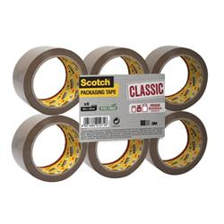 Scotch Classic Packaging Tape W50mmxL66m Buff Ref CL5066F6B [Pack 6] - 2 for 1