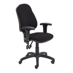 Calypso II High Back Chair with Adjustable Arms - Black Ref CH2800BK+AC1040