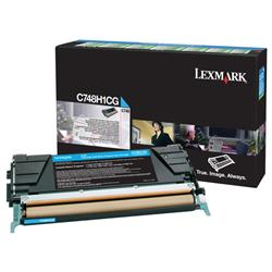 Lexmark C748 Return Programme Toner Cartridge High Yield Cyan Ref C748H1CG