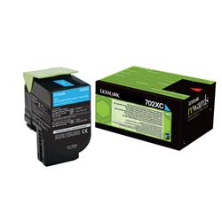 Lexmark 702XC Toner Cartridge Extra High Yield Cyan Ref 70C2XC0