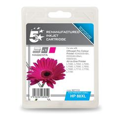 5 Star Office Compatible Inkjet Cartridge Page Life 1200pp Magenta [HP No. 88XL C9392A Alternative]