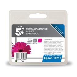 5 Star Office Remanufactured Inkjet Cartridge Magenta [Epson T071340 Alternative]