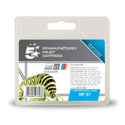 5 Star Office Remanufactured Inkjet Cartridge Page Life 390pp Colour [HP No. 57 C6657AE Alternative]