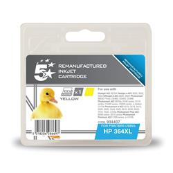 5 Star Office Remanufactured Inkjet Cartridge Page Life 750pp Yellow [HP No. 364XL CB325EE Alternative]