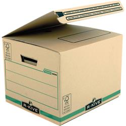 Fellowes Bankers Box Secure Shipping/Storage Box Brown/Green Pk 10 Ref 6204601 (FPC)