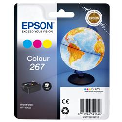 Epson Tri-Colour 267 Globe Ink Cartridge for WF-100W Ref C13T26704010