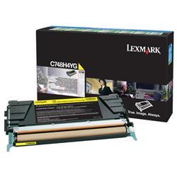 Lexmark Yellow High Yield Return Programme Toner Cartridge For C746/C748 Ref C748H3YG C748H3CG