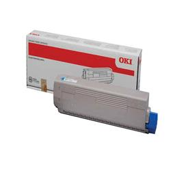 Oki C822 Toner Cartridge Cyan Ref 44844615 Ref 44844615