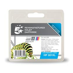 5 Star Office Remanufactured Inkjet Cartridge Page Life 330pp Colour [HP No. 301XL CH564EE Alternative]