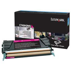 Lexmark C748 High Yield Toner Cartridge Magenta C748H2Mg