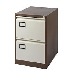 Jemini Coffee/Cream 2 Drawer Filing Cabinet Ref KF03006