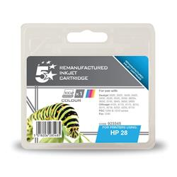 5 Star Office Remanufactured Inkjet Cartridge Page Life 240pp Colour [HP No. 28 C8728AE Alternative]