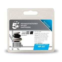 5 Star Office Remanufactured Inkjet Cartridge Page Life 400pp Black [HP No. 337 C9364EE Alternative]