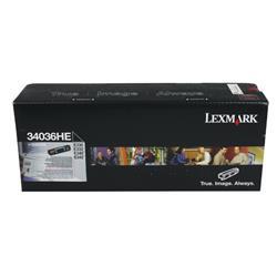 Lexmark E33x/E34x Toner Cartridge Black High Yield Ref 34036HE